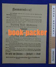 Original Flugblatt (SPD-nah) Spartakus-Aufstand 1919: KAMERADEN!