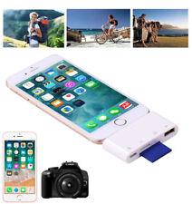 SD TF Card Reader For iPad iPhone XS XR X 8 7 6 Plus USB OTG Adapter Camera Kit
