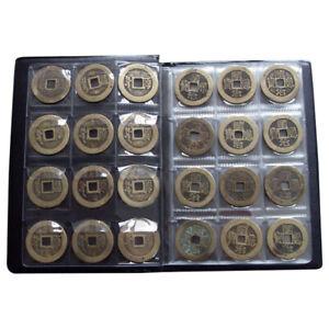 120 Coins Cases Holder Collection Album Book Pockets Storage Folders H8C9