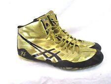 ASICS Mens JB Elite Wresting Shoe Olympic Gold Metallic Black Sz 13 J3A1Y SS4