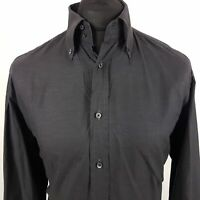 JOOP! Mens Formal Shirt 39 15.5 MEDIUM Long Sleeve Graphite Regular Cotton