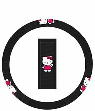 Hello Kitty Ribbon Steering Car Wheel Cover Black Pink Accessory Free Shipping