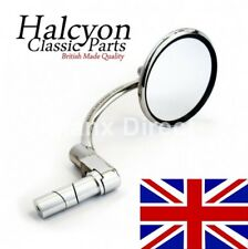 Halcyon Stainless Steel UK Made 830 Bar End Mirror Fits 7/8 & 1Inch Bars Stadium
