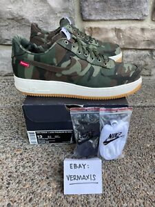 Nike Air Force 1 Low Premium 08 NRG Supreme camoflauge sz 13 VNDS 573488-330