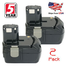 2X 18V 4.0Ah EBM1830 Lithium-ion Battery for HITACHI BCL1815 WH18DL Drill Driver