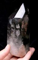 416.5g Natural Green  Phantom Quartz Crystal polished Point Healing