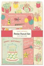 Cavallini & Co. Happy Birthday Petite Parcel Wrapping Set