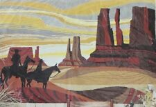 RC Rug Crafters Tufting Scenic Mural Tapestry ARIZONA DESERT 20x28 Burlap Canvas