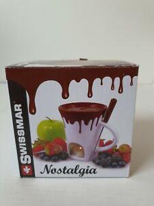 Swissmar Nostalgia Chocolate Fondue Mug Set , New  ( Open Box) .