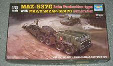 Trumpeter MAZ-537G w/ MAZ/ChMZAP-5247G 1:35 Scale Plastic Model Kit 00212