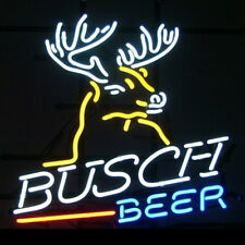 Neon Signs BUSCH BEER Real Glass Beer Bar Pub Store Party Decor Neon Light 19x15