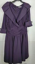 Eliza J Woman Plus 20W Eggplant Purple Elegant Cocktail Formal Dress NEW