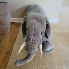 Melissa & Doug Plush Giant Over Sized Elephant Plush Lifelike Stuffed Animal EUC