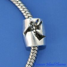 ANGEL with TRUMPET .925 Sterling Silver EUROPEAN EURO Spacer Bead Charm