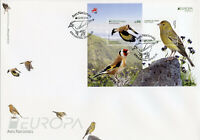 Portugal Madeira 2019 FDC Birds Europa Goldfinch Canary 2v M/S Cover Stamps