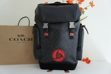 NWT Coach 7366 X MBJ Naruto Large Rider Pack With Signature Canvas Detail $650