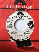 """Soul Promo 45/ James Brown """"The Payback Pt 2""""  /  """"Pt 1""""  VG++"""