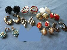 12 Pair Pierced EARRINGS,  Variety Styles including 1 MONET