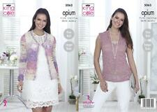 King Cole 5063 Knitting Pattern Womens Cardigan and Top in Opium / Opium Palette