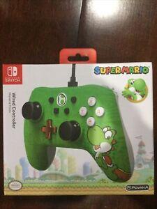 Nintendo Switch Super Mario Yoshi Wired Controller PowerA New