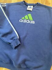 Adidas sweatshirt Near Vintage Embroidered Spell Out Stripes *Men's M