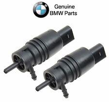 NEW BMW E39 E46 E53 E83 Pair Set of Front & Rear Windshield Washer Pump Genuine
