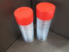 2 Storage Tubes for H Model Coin capsule Holders & 40 x 38 mm capsules