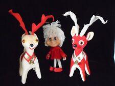 Cute Vintage 1960's Reindeers and Friend Red Christmas Japan Lot