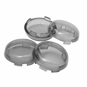 4Pcs Plastic Turn Signal Lens Cover Fit for Harley Dyna Sportster Street Glide