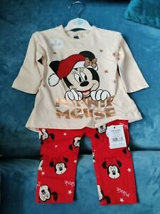 Baby Girl Minnie Mouse Christmas Outfit 3-6 Months