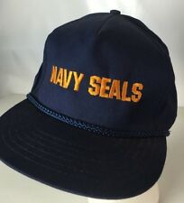 US NAVY SEALS Hat Cap Big Spellout Rope Snapback Team Military  Embroidered