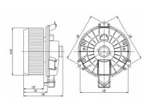 HVAC Blower Motor-Hatchback Front,Left TYC 700203