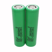 2X 18650 Battery 2500mAh 3.7V Li-ion High Drain 25R Rechargeable for Power Bank