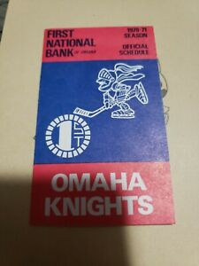 1970-71 Omaha Knights CHL Hockey Pocket Schedule Central League NM