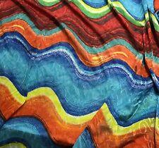 Chiffon Knit Fabric - Bright Waves Jacquard Stretch 1/3 yard remnant