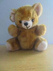 "1979 Dan Dee Vintage Brown 15"" Plush Teddy Bear Stuffed Animal Toy"