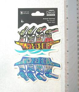 First Nation Native Westcoast Coast Bella Bella Animal Journey Sticker Decal