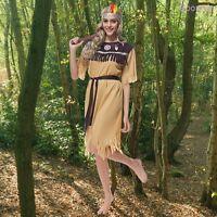 Halloween Women Indian Princess Costume Native American Wild West Fancy Dress