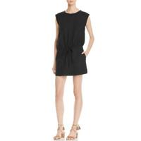 NWT- Soft Joie Liana Tie-Waist Linen Dress, Caviar Black - Size Small