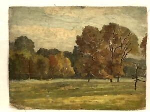 Early 1870's American Impressionist Landscape Estate Fresh Untouched Condition