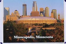 HUMPHREY METRODOME,SKYLINE,SKYSCRAPERS,MINNESOTA TWINS & VIKINGS-MINNEAPOLIS,MN
