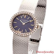 Patek Philippe Diamond 18K White Gold 23mm Ladies Watch 56.1 Grams NR