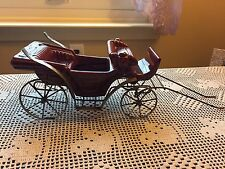Vintage Red Victorian horse drawn carriage