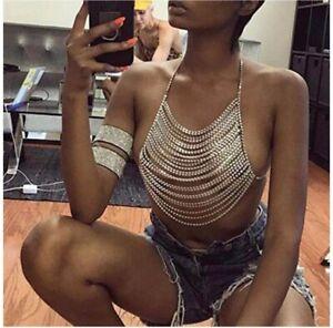 Hot New Body Chain Jewelry crystal Dance Tassel Sexy Rhinestone Bikini Crystal