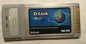 D-Link Air DWL-650 802.11b Cardbus PCMCIA Wireless Adapter