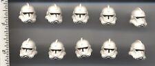 Star Wars LEGO x 10 White Minifig, Headgear Helmet SW Clone Trooper, Plain NEW