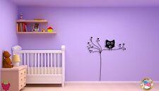 Wall Sticker Owl Tree Branch Cool Decor for KIds Nursery Room z1391