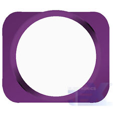 White With Purple Trim iPhone 5S Style Look/Looking Home button for iPhone 5/5C