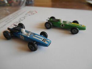 vintage voiture mini DINKY TOYS Formule 1 n° 60 et 61 an 1968 made in hollande