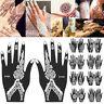 India Henna Temporary Tattoo Stencils Kit for Hand Arm Leg Feet Body Art Decal